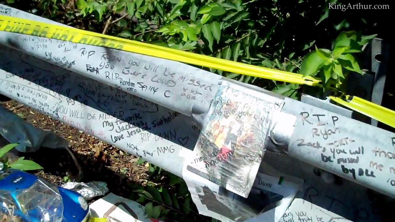 Memorial-Built-at-the-Ryan-Dunn-Car-Crash-Site (8)