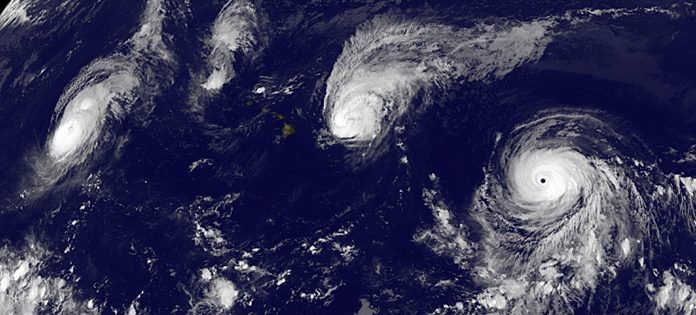 3 Category 4 Hurricanes