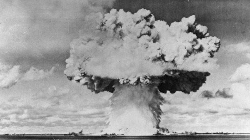 Atomic Bomb Test at Bikini Island