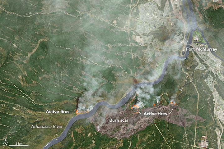 Fort McMurray Wildfire by NASA