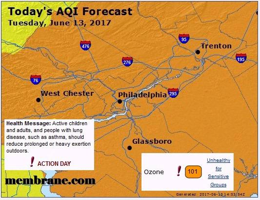 Dangerous Air Quality / June 13, 2017