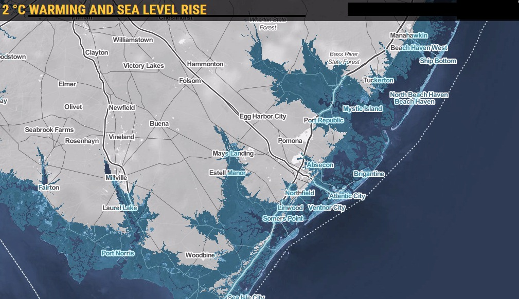New Jersey Shore Under Sea Level